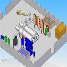 Full Continuous Waste Tyre Pyrolysis Plant
