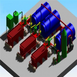 30T waste tyre pyrolysis plant
