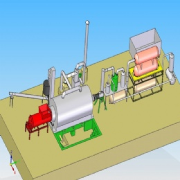 Semi-Continuous Tyre Pyrolysis Plant